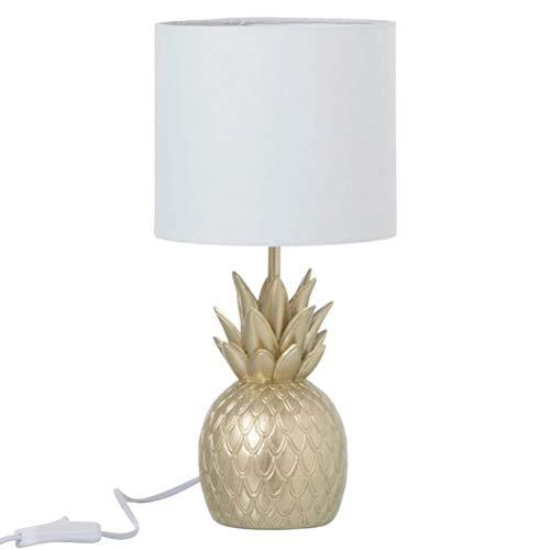 Lampe ananas en résine or