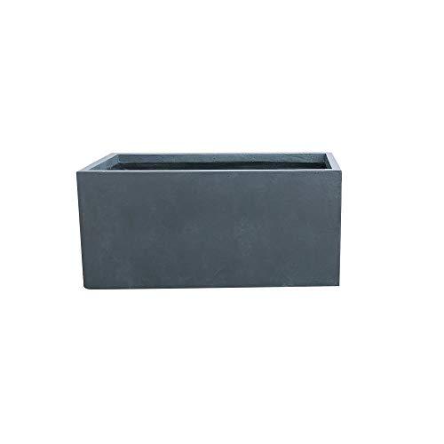 Kante RF0104B-C60121 Lightweight Concrete Modern Long Low Outdoor, Large Planter, 31″ x 15″ x 15″, Charcoal