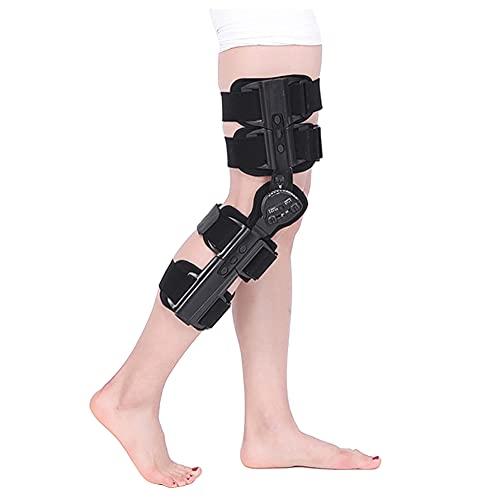 XXGJK Rodillera con bisagras estabilizador de Soporte ortopédico después de la cirugía Soporte de Rodillera Ajustable para la estabilización de recuperación y Lesiones