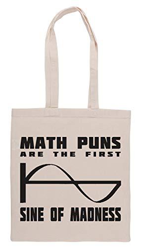 Luxogo Math Puns Madness Bolsa De Compras Groceries Beige Shopping Bag