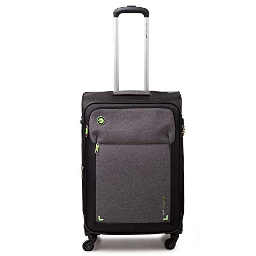 VIP Lido Polyester 54 cms Grey Softsided Cabin Luggage with Anti-theft Zipper