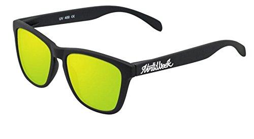 NORTHWEEK Regular Gafas de sol, Matte Black/Gold Polarized, 45 Unisex