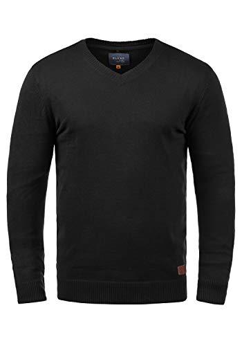 Blend Lasse 20703348ME Strickpullover, Größe:M, Farbe:Black (70155)