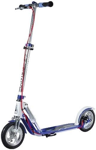 HUDORA BigWheel Air Dual Brake Luftreifen-Scooter - Big Wheel Scooter mit Handbremse - Tret-Roller luftbereift - City Scooter