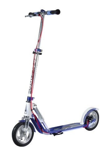 HUDORA BigWheel Air Dual Brake 205 Luftreifen-Scooter - Big Wheel Scooter mit Handbremse - Tret-Roller luftbereift - City Scooter