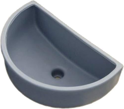 Waschbecken, Ausgussbecken, Spülbecken Kunstoff für Garten, Keller inkl. Abflusssieb-Haarsieb aus Kunststoff