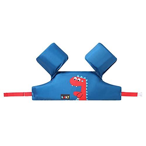 Hujjuu Chaleco de natación para niños, flotadores de seguridad para natación, traje de baño para niños y niñas, chaqueta de entrenamiento para niños de 2 a 6 años