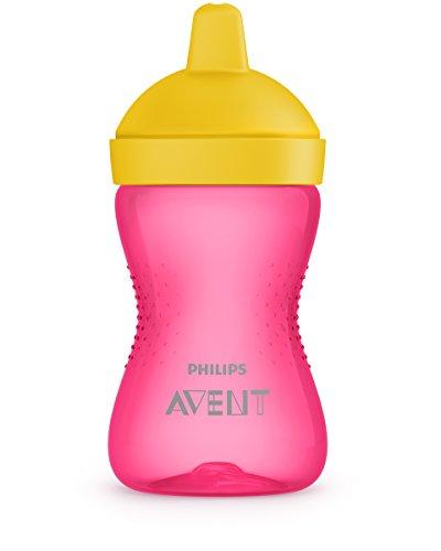 Philips Avent Trinkbecher mit beißfestem Trinkschnabel SCF803/04, 12m+, 300 ml, pink/gelb