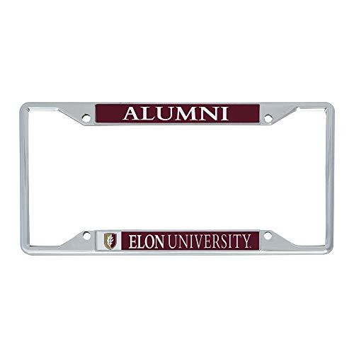 Desert Cactus Elon University Phoenix NCAA Metal License Plate Frame for Front or Back of Car Officially Licensed (Alumni)