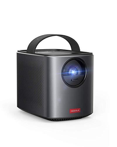 NEBULA Mars II Pro von Anker,Tragbarer kompakter Projektor 500 ANSI Lumen,720p Bildqualität,Mini Beamer mit 30-150 Zoll,3 Stunden Akku, 10W Lautsprecher,Filmprojektor(Generalüberholt)