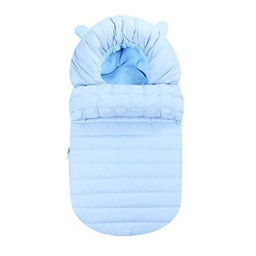 TISI - Manta de algodón para bebé, diseño de dibujos animados, para bebés de 0 a 12 meses (azul)