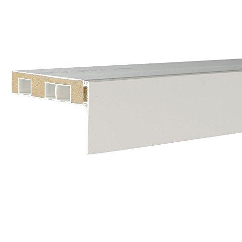 Liedeco Aufklipsblende Aufsteckblende für Gardinenschiene 5 cm/ 7,5 cm weiß (weiß, 50 mm)