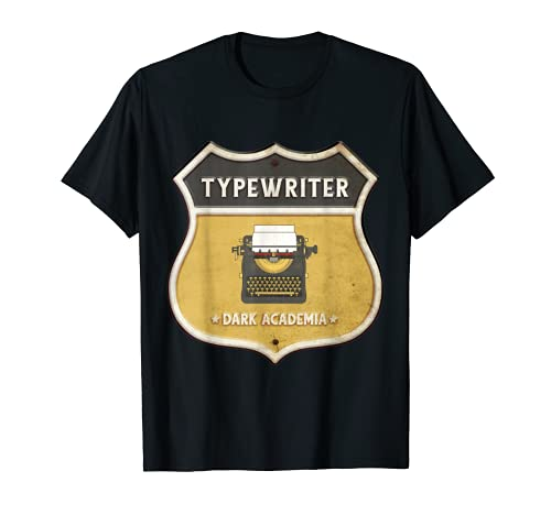 Typewriter Dark Academia Road Sign T-shirt for Adults