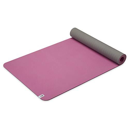 New Balance Tapete de ioga – TPE 6 mm de espessura, antiderrapante, tapete de exercício reversível, para fitness, ioga, pilates, exercícios de chão e alongamento (68C x 24L x 6 mm) – Rosa paraíso