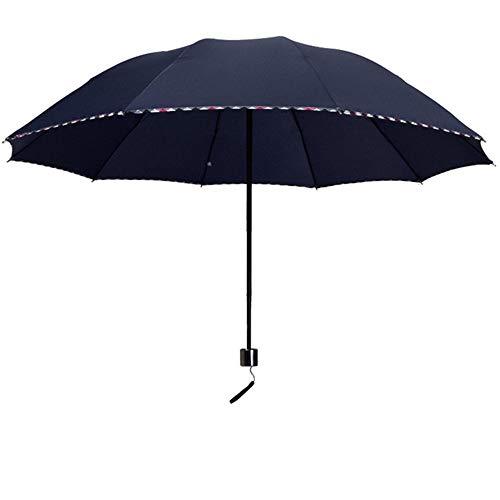 Winddicht Opvouwbare Compacte Stok Paraplu, Geventileerde Dubbele Luifel Reizen Paraplu met Teflon Coating, voor Outdoor Sport