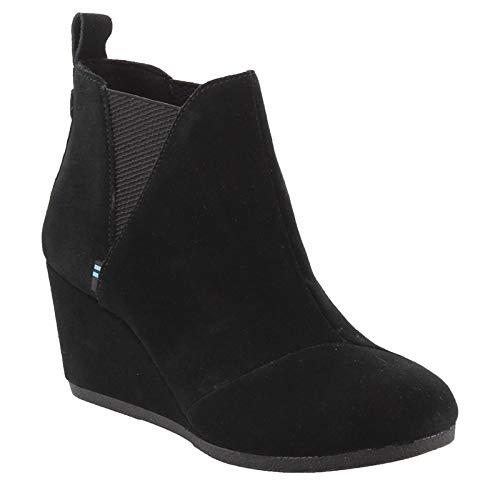 TOMS Black Suede Women's Kelsey Booties 10014161 (Size: 8.5)