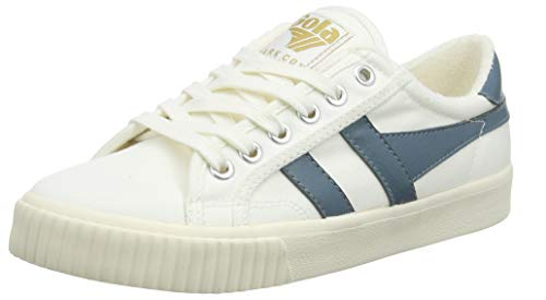 Gola Women's Tennis Mark COX Trainers, Off-White (O.Wht/Indian Teal Xe), 5 US