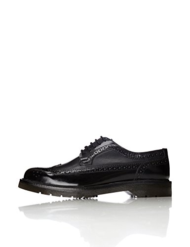 find. Brogue di Pelle Uomo, Nero (Black), 44 EU