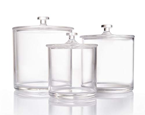 Beautiii Premium Quality Clear Acrylic Apothecary Jars | Set of 3