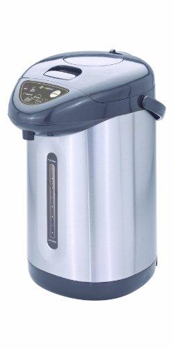 Best Deals! Eurolux EL5151S 5 Quart Hot Pot with Reboil and Auto Dispense, Black/Stainless Steel