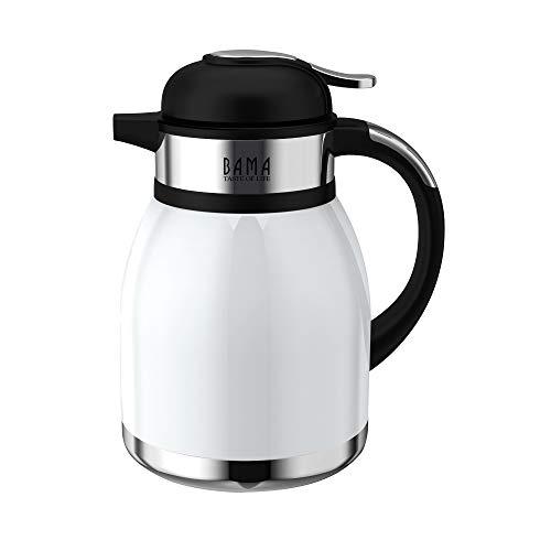 Bama - Tahiti Kaffeekanne /Teekanne Thermoskanne Thermos 1,5 l Weiß