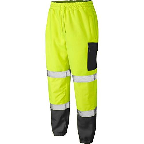 HI VIZ VIS - Pantalones de chándal de seguridad de dos tonos para construcción de carretera (talla S-5XL)