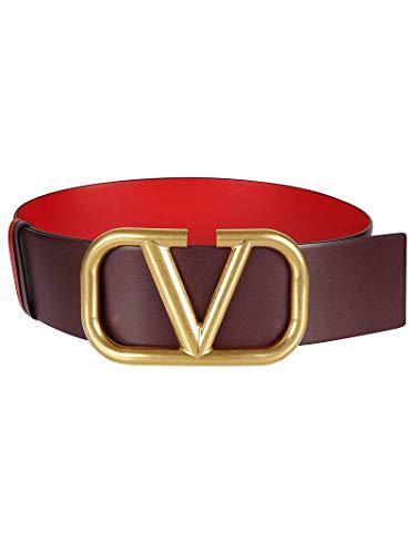 Luxury Fashion | Valentino Dames TW2T0S10ZFRIT0 Bordeaux Leer Riemen | Lente-zomer 20