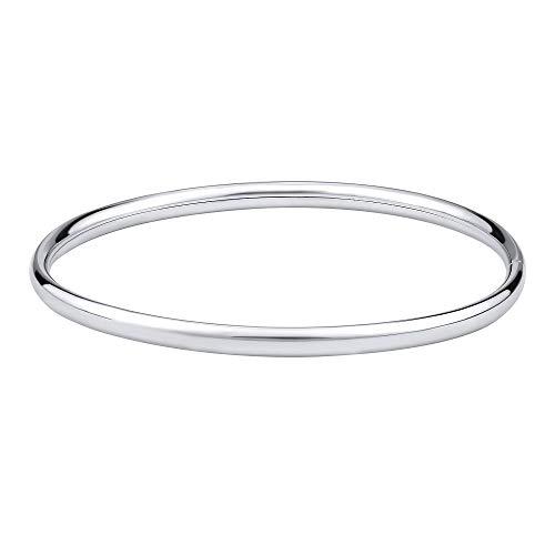 SILVEGO Damen Armband aus 925 Sterling Silber Armreif Poliert Breite 4 mm