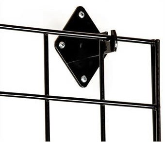 Only Garment Racks Wall Brackets for Gridwall or Grid Panels - Black Color - Set of 8 Pieces