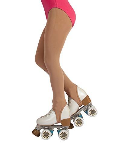 CALZITALY Mädchen Rollschuh und Eiskunstlauf Strumpfhose mit Steg | Beige, Schwarz | 6 Jahre, 8 Jahre, 10 Jahre, 12 Jahre | 70 DEN | Made in Italy (12 Jahre, Hautfarbe)
