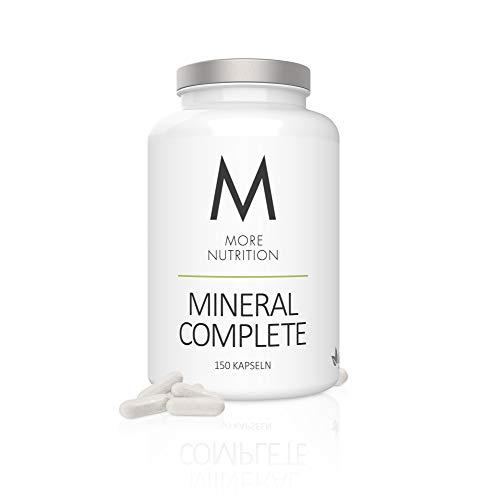 MORE NUTRITION Mineral Complete (1 x 150 Kapseln) - Nahrungsergänzung mit Zink, Eisen, Selen, Folsäure, Vitamin A, B9 & B12 sowie Calcium Magnesium