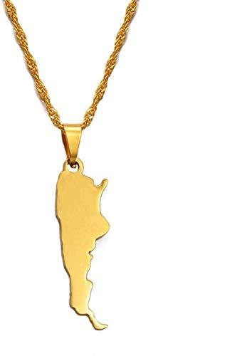 Argentina Mujer Amante Collar de Oro y Collar Colgante Joyería Patriótica Regalo # 018121
