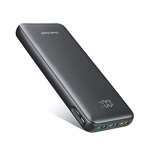 Charmast Batería Externa 23800mAh Power Bank USB C PD18W & QC3.0 Rápido Cargador Portátil Móvil Ultra Alta Capacidad con Pantalla LCD Digital,con 4 Salidas y 2 Entradas para Smartphones Tabletas y Más