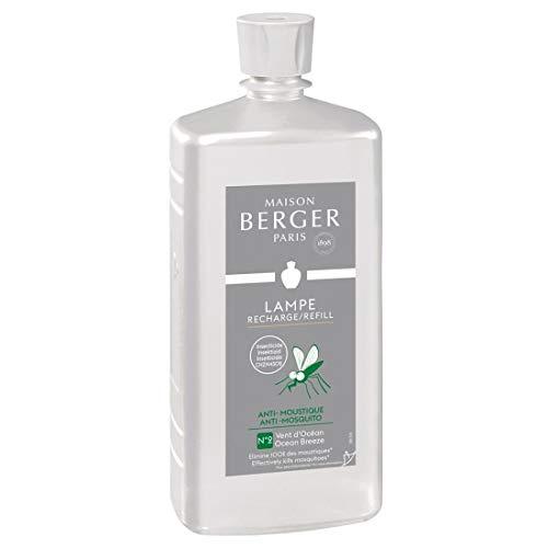 Lampe Berger 115052 Recharge parfum de maison pour lampe à parfum Anti-Moustique Vent D'Océan 500ml