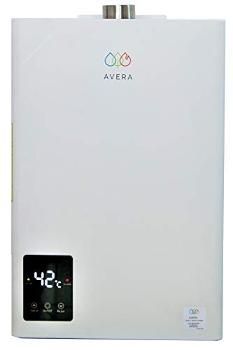 AVERA Calentador de agua instantáneo MODULANTE para 2 regaderas. GAS LP. CM14. Boiler de paso.