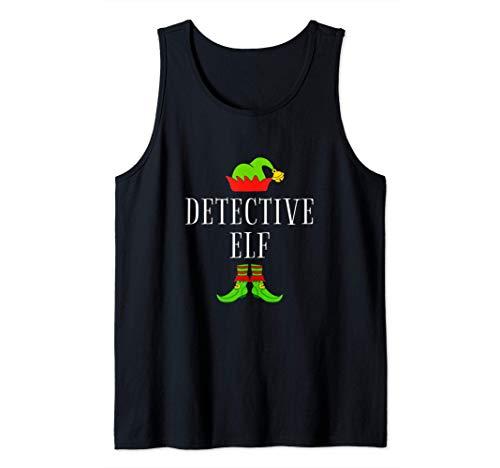 Disfraz De Elfo Detective Divertido Navidad Detective Elf Camiseta sin Mangas