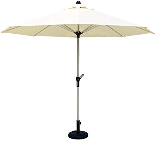 Parasolparasol Garden & Outdoors Parasols Ø 9ft / 270cm Patio Table Market Umbrella with Crank, Perfect for Outdoor Garden Yard, Beach Commercial Event Market, Camping, Swimming Pool ( Size : Beige )