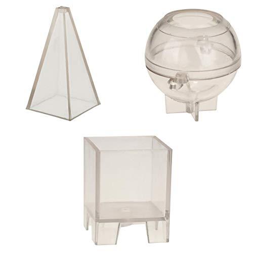 Fenteer Mixed Stampi per Fabbricazione Candele Candele Fai da Te Mestieri Set Completo Accessori con 3 pz