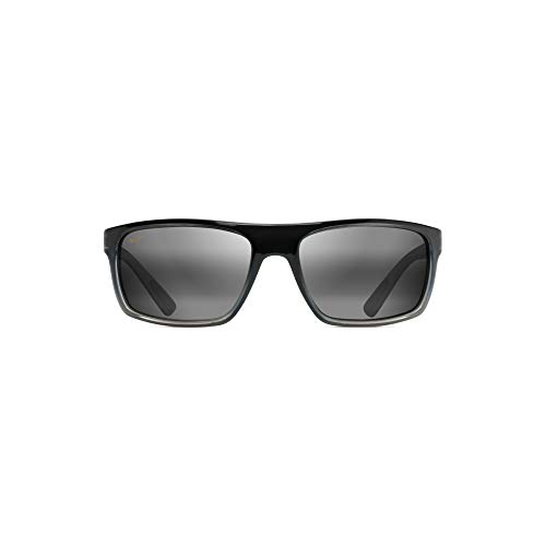 Maui Jim unisex adult Byron Bay Sunglasses, Marlin/Neutral Grey Polarized, Large US