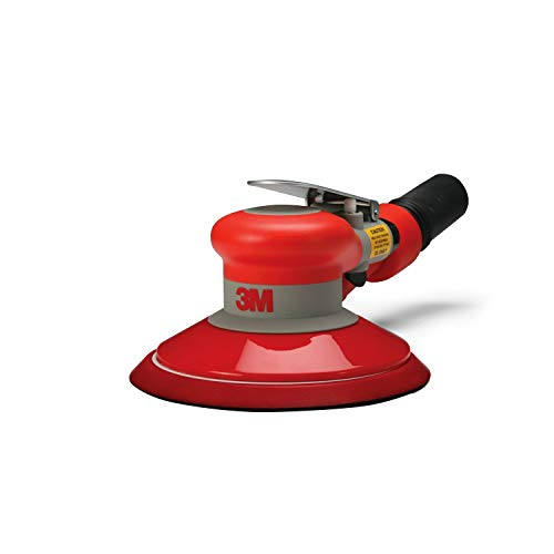 "3M Random Orbital Sander - Self Generated Vacuum Sander - 6"" x 3/16"" Diam. Orbit - Pneumatic Palm Sander - Hook and Loop Pad - For Wood, Composites, Metal - Original Series"