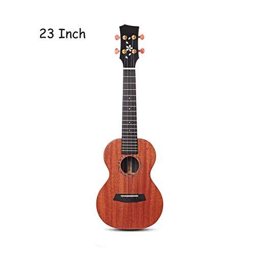 Yaunli Gitarren-Kit 23/26 Inch Gitarre Ukulele Mahagoni HPL BT Mahagoni Hals Schwarz Richlite Akustische Gitarre (Farbe : As Shown, Size : 23inch)