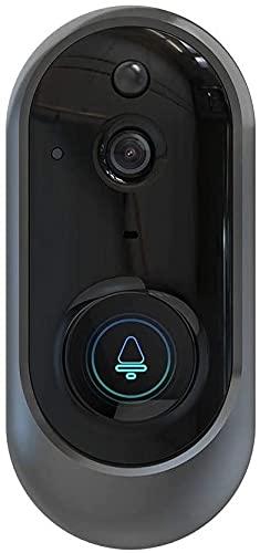 Timbre inalámbrico, Video Doorbell, Smart Wifi Timbre, Video Doorbell inalámbrico, Visor de puertas HD de 720p Con Visión nocturna de la puerta, Detección de movimiento PIR, Control remoto de la aplic