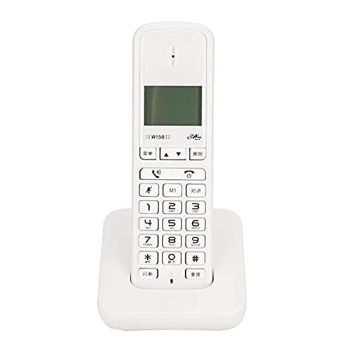 ELKeyko Teléfono inalámbrico Digital Teléfono Home Línea Teléfono Teléfono Teléfono Teléfono Fijo Soporte Función de Llamadas de Manos Libres 100-24 0V Nos Enchufe (Color : White)