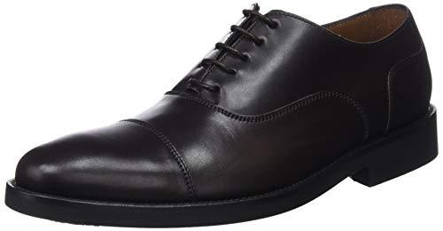 Lottusse L6591, Zapatos de Cordones Oxford para Hombre, Marrón (Ebony Moka), 45 EU