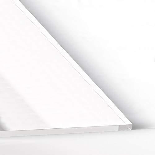 Hoja de plástico acrílico transparente 3mm | Placa metacrilato sin rotular | Metacrilato varios tamaños | Plancha Metacrilato traslucido| Cantos pulidos | (A6- (105x148) mm)