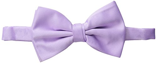 Stacy Adams Men's Satin Solid Bow Tie, Lilac, One Size