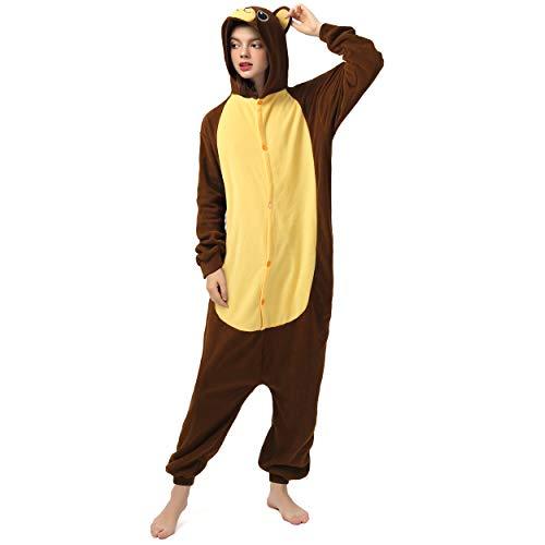Katara 1744 (30+ Designs) Bären-Kostüm Belly, Unisex Onesie/ Pyjama-Qualität für Erwachsene & Teenager