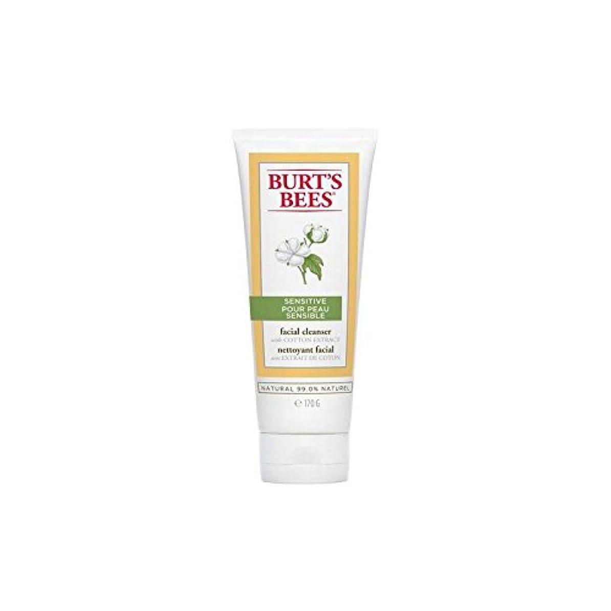 素晴らしさアテンダントコットンBurt's Bees Sensitive Facial Cleanser 170G - バーツビー敏感な洗顔料の170グラム [並行輸入品]