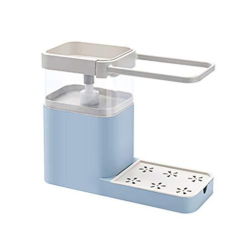 Fasclot 3 in 1 Soap Pump Dispenser+Kitchen Sponge Holder+Tea Towel Holder