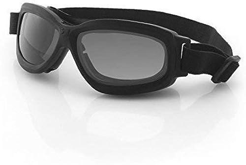Bobster Bravo 2Ballistic Goggle-blk Frame-3Verres antibuée Clair,